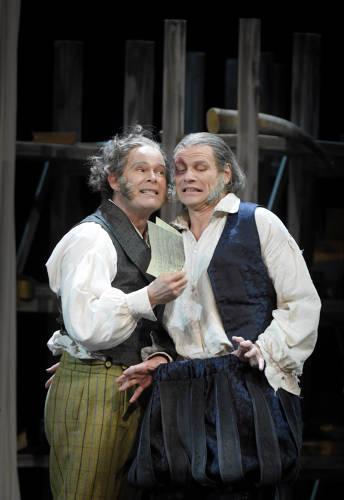Gerald Finley, left, and Bo Skovhus in Die Meistersinger, foto Vincent Pontet.