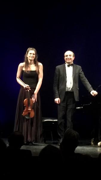 JAnine Jansen an Alexander Gavruylyuk at the Opera in Oslo. Foto Henning Høholt