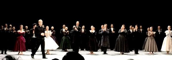 Håvard Gimse, applaus på premieren. Foto Tomas Bagackas.