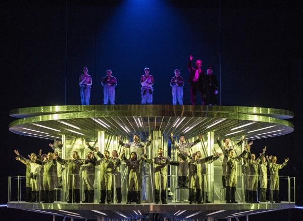 Elysium at The Norwegian Opera, by Rolf Wallin, Oslo, The cast. Photo Erik Berg