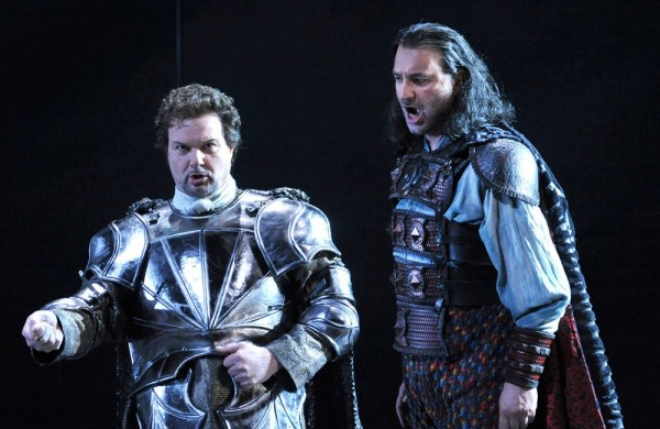 The Roman general and Attila. Photo: Liege Opera