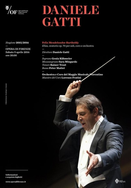 Poster - ELIAS - oratorio by Felix Mendelssohn - Bartholdi conducted by Daniele Gatti