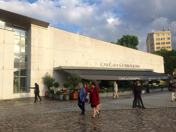 Cafe des Concerts situated by the new Philharmonie de Paris  . Foto Henning Høholt