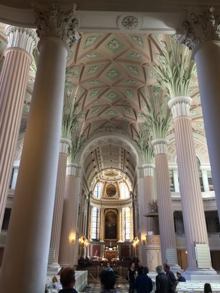 St. Nicolay Church, Leipzig, central part towards the altar.