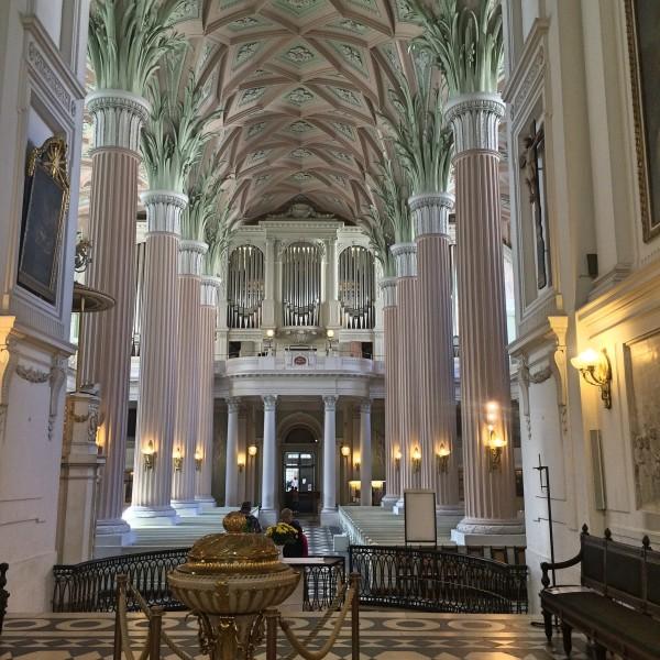 The beautiful organ in St- Nicolay Church in Leipzig. Foto Henning Høholt