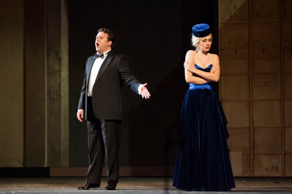 Matteo Lippi, left, and Francesca Dotto in second act.
