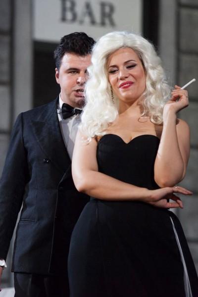 Lippi and Dotto as Alfredo and Violetta in La Traviata in Firenze  .