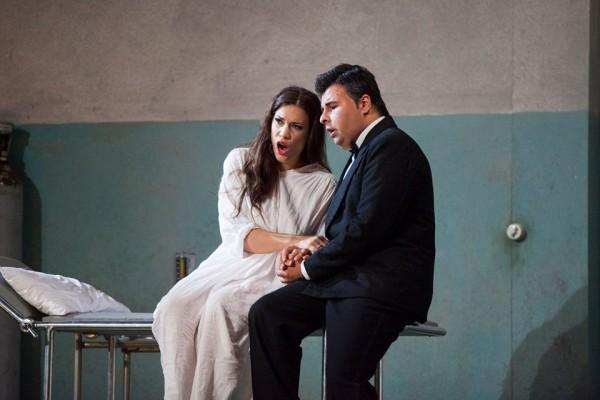 Matteo Lippi, right, and Francesca Dotto in last act.