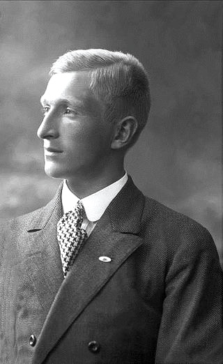 Lars Thalian Backer, photographed in 1911,  (1892 - 1930) was a Norwegian architect