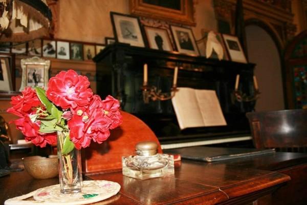 Puccini piano, inside the Puccini Villa. Photo Museum Villa Puccini