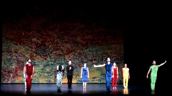 L.A. Dance Project led by Benjamin Millepied (center in black) after his success presentation of On the other side. Foto Henning Høholt