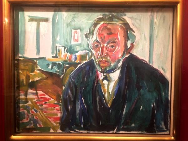 Edvard Munch selvportrett etter den Spanske syken i 1919, foto Henning