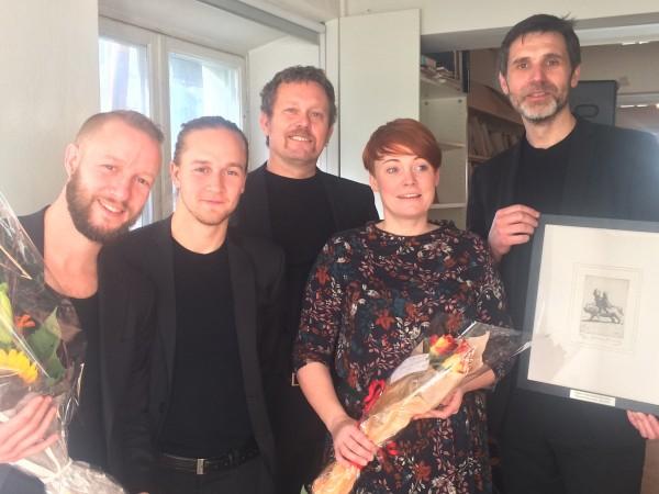 Kritikerprisen for Dans: Sigurd Johan Heide og Kartellet for Doppler. Foto Henning Høholt