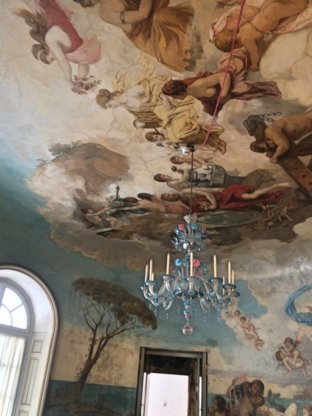 Herrenchiemsee - Ritterbad - (Knights bath) roof with Murano chandelier.