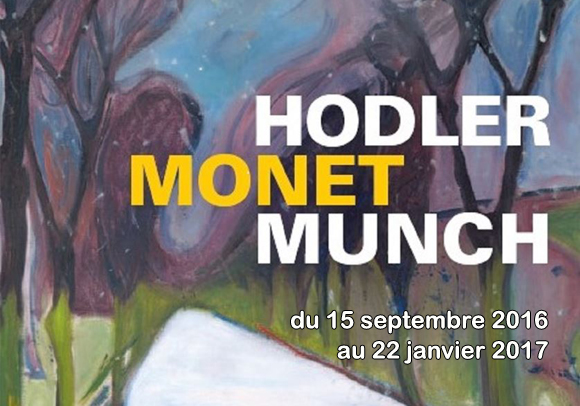 Munch Monet and Holder paintings in Musée Monet Marmottan in Paris until 27th. January. 2017.