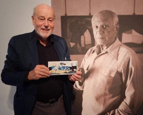 Pablo Picasso (til høyre) og forfatteren Torkil Baden.