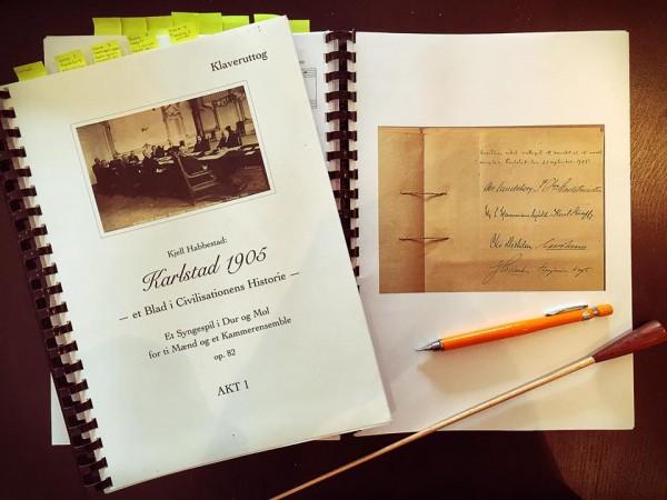 Kjell Habbestad har komponert og skrevet libretto til Katlstad 1905, som blir Urpremiere i Moss 18. Oktober. Oslo premiere i Universitetets Aula 20. Oktober.  - En Operabegivenhet?