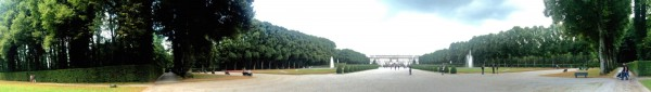 Panorama of Herrenchiemsee, from the entrance to the garden. Foto Tomas Bagackas.