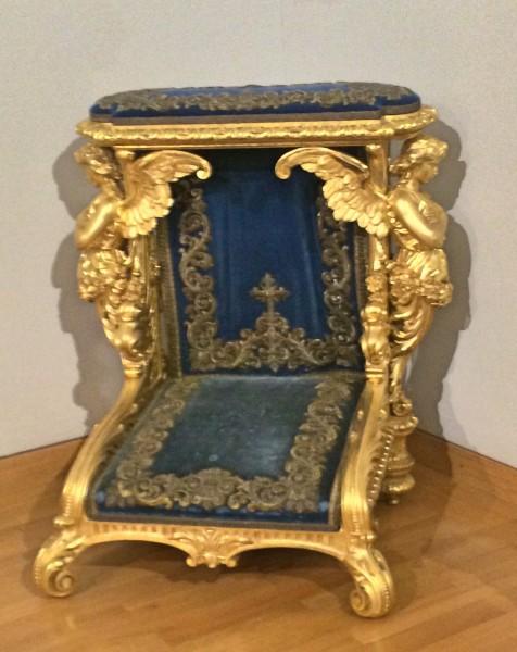Herrenchiemsee Praying chair, Foto T. Bagackas
