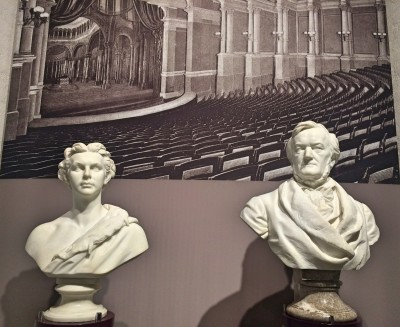 Richard Wagner and Ludwig II busts at the Herrenchiemsee Museum. Foto T. Bagackas