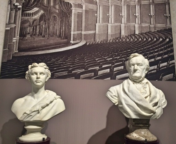 Richard Wagner and Ludwig II busts at the Museum. Foto T. Bagackas