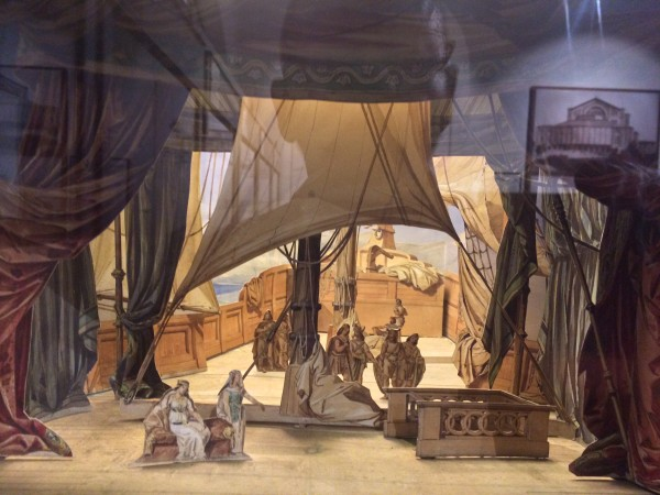 Scenography model for Tristan and Isolde at the Museum part of Opera. Foto T. Bagackas