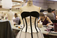 From the costume production atelier at Opera de Paris, costumes designed by Karl Lagerfeld for the George Balanchine program, premiered 22. October. Foto: © Christophe Pelé / OnP