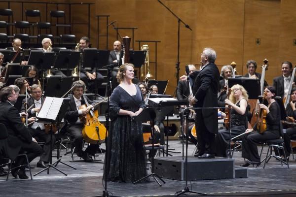 Florence, October 2016. The concert at Opera di Firenze directed by Fabrizio Maria Carminati with soprano Jessica Pratt and tenor Shalva Mukeria with the Orchestra of the Maggio Musicale Fiorentino.