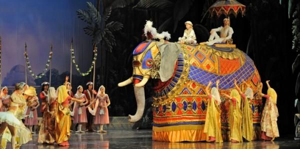 The elephant in the wedding Parade at La Bayadere. Photo: Martians Aleksa.
