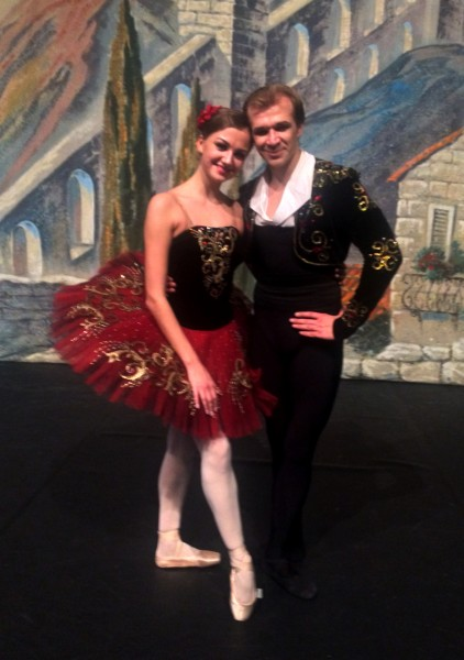 Kristina Andreeva and Mikhail Timaev in Don Quixote. Foto Tomas Bagackas.