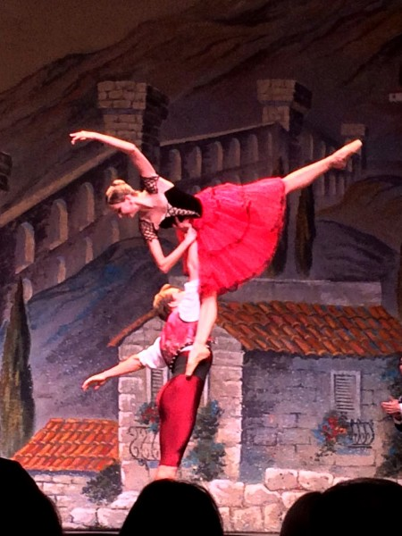 Kristina Andreeva and Mikhail Timaev as Kitri and Basil with the Kazan Ballet touring in Europe. Foto Tomas Bagackas