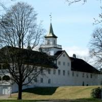 Oslo Bymuseum sett fra Frognerparken. Fotografert av L.S. Johansen i 2012,