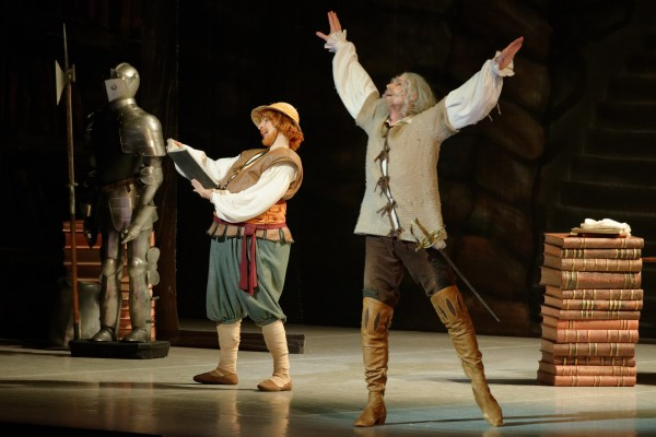 Ernestas Bar´caitis and Andrius Zuzzalkinas was taking good care of their important parts as the titelrole Don Quixote and Sancho Panza, The monologue was good. Foto Martians Aleksa.