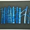Blå skog, et stort akrylmaleri av Tore Hansen FOTO- SYNNØVE NORD