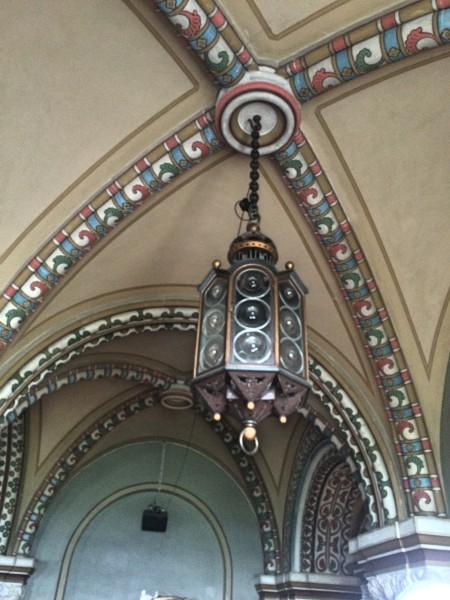 Entrance hall, lamp