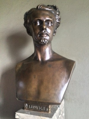 Ludwig II Bust in entrance hall to the Royal Cabinets.