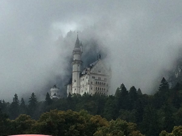 Neuschwanstein in a fairytale fog.