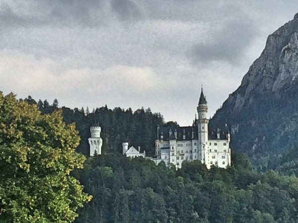Neuschwanstein seen from  the road