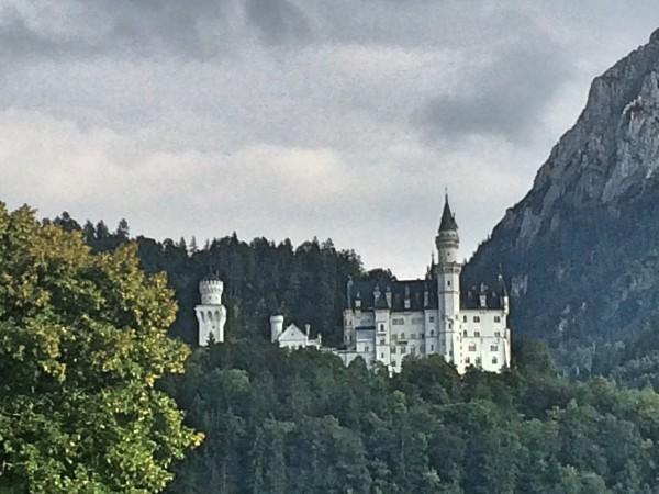 Neuschwanstein seen from  the road