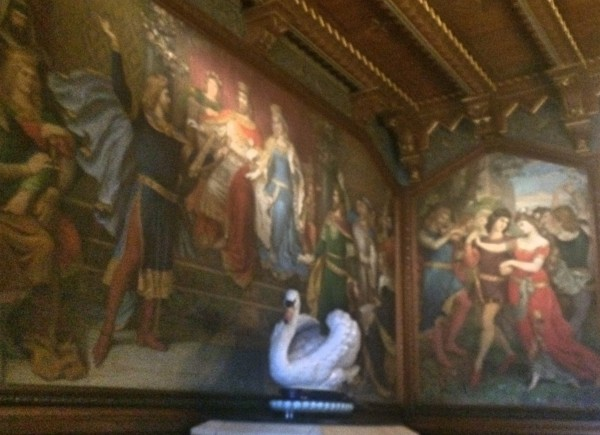 Remembering of some of Richard Wagners operas are every where at Neuschwanstein Castle, wall paintings, and of course the Swan from Lohengrin