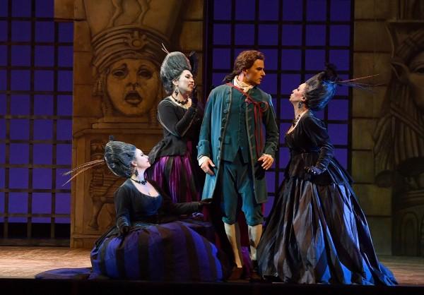"""Magic Flute by Mozart: Nacoski and the three Dames.j Livorno, Teatro Goldoni Livorno """"Il flauto magico"""""""
