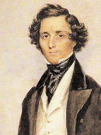 Portrait of Mendelssohn by James Warren Childe, 1839