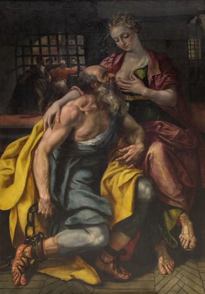 """""""Caritas Romana"""", fra ca. 1603 er tilskrevet Marten de Vos (1532-1603)"""