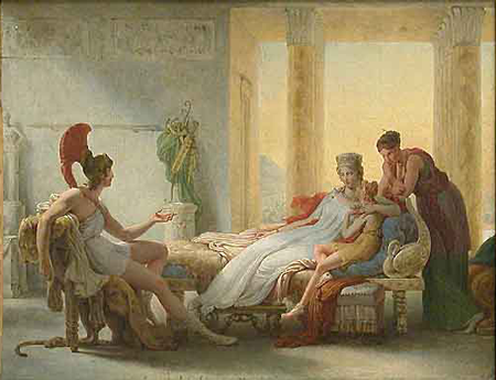 Anéas and Dido by Baron Pierre-Narcissi Guérin (1815).