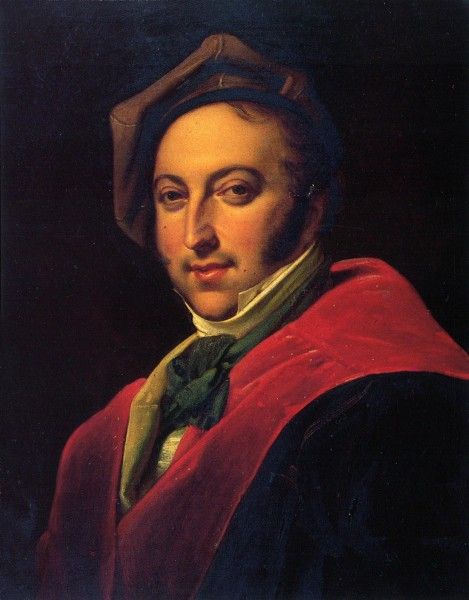 24 year old Rossini composed a demanding score. Anonymous portrait.