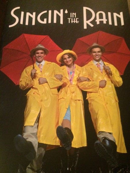 Program forside til Singin´in the Rain