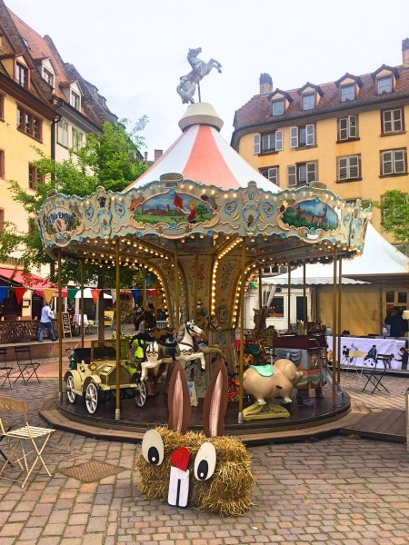 Romantic carousel by the Cathedral.