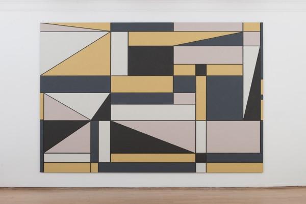 """Maleriet """"Completed view"""" er inspirert av Gunnar S. Gundersens maleri på Kunstnerforbundets fasade (FOTO: THOMAS TVETER)"""