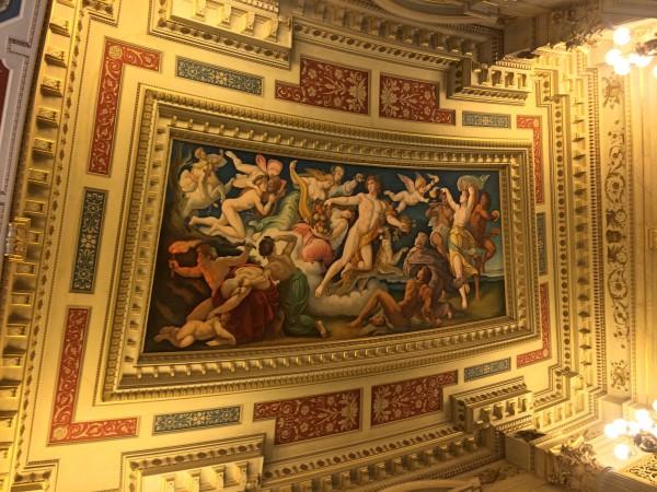 Semper Oper Dresden, Roof painting, foyer, foto: Tomas Bagackas