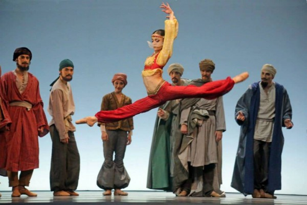 Julie Charlet as the Beautiful Slave in Le Corsaire.